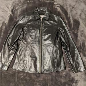 Wilson's Leather Black Jacket Medium